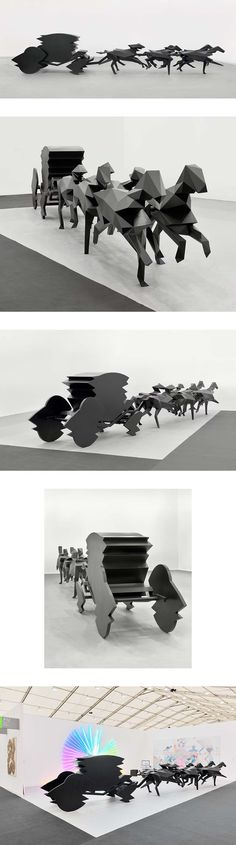 The Carriage Xavier Veilhan Xavier Veilhan, Exhibition Stands, Installation Art, Thesis, Drawing S, Figurative, Game Art, Sculpture Art, Landscape Design