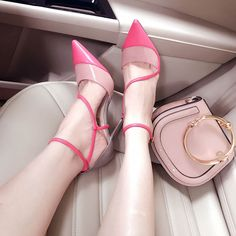 Shoespie Pointed-toe Shallow Rotate Lace-up Stiletto Heels