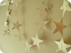 star book page garland
