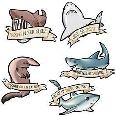 Marvelous Drawing Animals In The Zoo Ideas. Inconceivable Drawing Animals In The Zoo Ideas. Shark Tattoos, Hammerhead Shark Tattoo, Shark Art, Cute Shark, Shark Week, Marine Life, Sea Creatures, Drawing Reference, Cute Drawings