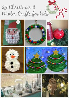 25 Christmas and Winter Crafts for kids  @kroymama4