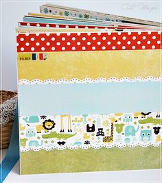 baby mini album using Echo Park Bundle of Joy paper, Fancy Pants, UHK, Paper Gallery