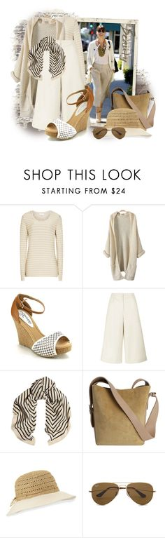 """Pitstop - Culottes"" by tasha1973 ❤ liked on Polyvore featuring Reiss, Traffic People, Helen Kaminski and Ray-Ban"