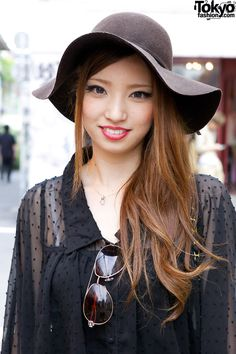 Harajuku Girls' Contrasting Styles from H, Lip Service, ANAP & Nadia Harajuku girl in floppy felt hat – Tokyo Fashion News