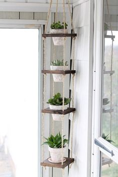 13 DIY Hanging Planters to Give Your Indoor Garden a Lift via Brit + Co