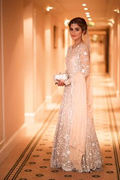 ~ Living a Beautiful Life ~ mina hasan Pakistani Wedding Dresses, Pakistani Outfits, Indian Dresses, Indian Outfits, Pakistani Couture, Walima Dress, Bridal Outfits, Indian Bridal, Formal