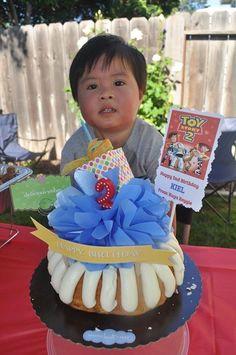 Kiel with his birthday cake