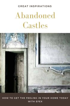 History abounds in Abandoned Castles in France. Take a tour and see the treasures that have been left behind. Some are being restored room by room. Abandoned Castles, Abandoned Houses, Flexible Molding, Restoration, Tours, France, History, Room, Painting
