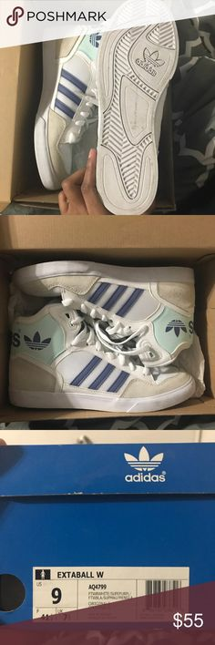 ea305a09f8855e Adidas super stars This shoe are Adidas original s high top! They have been  worn for