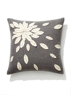 Felt Flower Applique Pillow