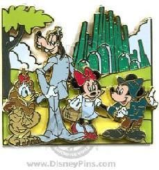 Pin 60750: 'Movie Moments - Wizard of Oz' Mickey Mouse, Minnie Mouse, Donald Duck, Goofy, Disney