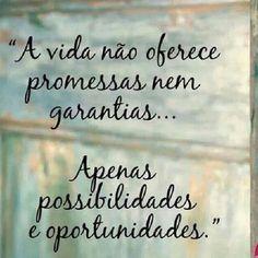 """""""A vida não oferece promessas nem garantias... Apenas possibilidades e oportunidades.""""  #mentesprosperas #prospermindintelligence #renatohirata #projetodevida"""