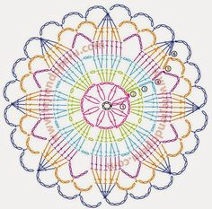 mandala croche graficos - Pesquisa Google