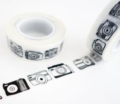 Black camera washi tape, great for travel journals and scrapbooking. Use for gift wrap, decorating cards, photo frames and more! Add a little dash of cuteness to any crafting project! Washi tape is ea                                                                                                                                                                                 More