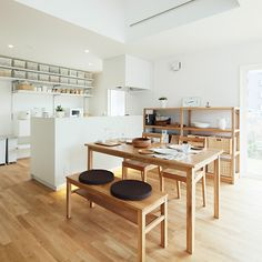 The 12 Best Stores for Budget-Friendly Home Decor: Muji - Home Decor Budget Kitchen Furniture, Kitchen Interior, New Kitchen, Home Furniture, Furniture Design, Furniture Cleaning, Kitchen Rustic, Kitchen White, Rustic Table