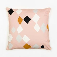 Cushion Cover, organic cotton pillow case, decorative cushion, blush pink, tapestry inspiration, Geometric Cushion, home decor, Depeapa