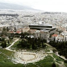 How astonishing the #AcropolisMuseum & #Dionysus #Theatre look from above!👏 #Acropolis #Athens #thisisAthens #visitGreece… | Greece