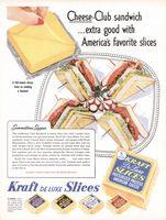 Kraft Cheese Club Sandwich 1955 Ad Picture
