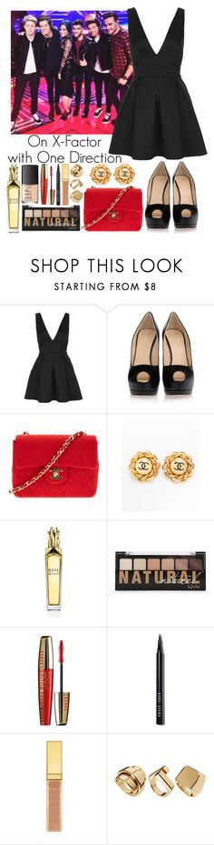 """On X-Factor with One Direction"" by elise-22 ❤ liked on Polyvore featuring Oh My Love, Giuseppe Zanotti, Chanel, Anrealage, Bobbi Brown Cosmetics, AERIN, River Island and NARS Cosmetics"