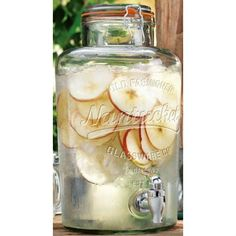 The 2.15 Gallon Nantucket Drink Dispenser is crafted of fine glass material.Durable Acrylic SpigotAirtight Bail And Trigger ClosingCoordinating Styles AvailableCapacity: 2 GallonsThis product is excluded from our Free Shipping offer due to size and weight...
