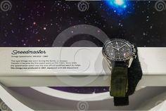 Omega Speedmaster moonwatch display, OMEGA stand at NASA Exhibition, Bangkok 2014