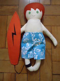 Surfista - Fabric Rag Doll