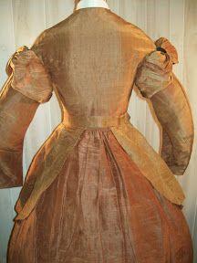 1860's copper brown dress