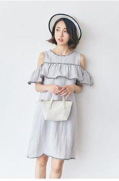 Korean fashion beach strapless dress - AddOneClothing - 1