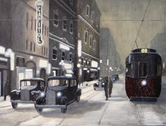 This is #Winnipeg, #Portage Avenue circa 1930.    www.daverheaume.com