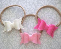 Glitter Bow Headband Glitter Baby Bow Headband Pink Glitter