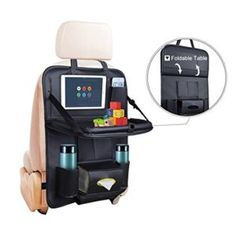 Car Seat Back Organizer Baby Table - PU Leather Backseat Car Organizers Tray for Baby Kids Toy Bottles Storage Foldable Dining Table,Tablet,Tissue Storage Bag Pockets for Travel Foldable Dining Table, Backseat Car Organizer, Baby Table, Couture, Bag Storage, Pu Leather, Kids Toys, Car Organizers, Car Seats