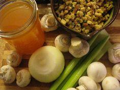 Cornbread Stuffing with Smoked Apple Sage Sausage and Mushrooms #vegan #thanksgiving #grainmeat