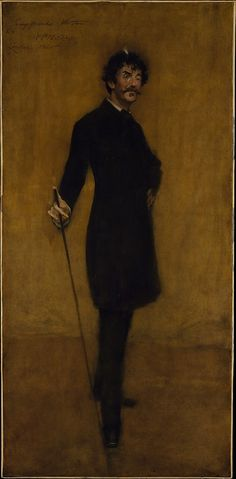 James Abbott McNeill Whistler / by William Merritt Chase / 1885 / oil on canvas / love this portrait of Whistler imitating his style ... very clever