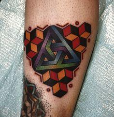 Penrose triangle mandala