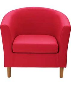 ColourMatch Fabric Tub Chair - Poppy Red.