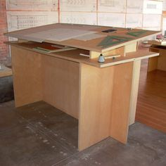 Donald Judd - Standing Writing Desk #78  It's nice to see plywood used for something so stunning!
