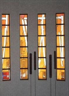 Synagogue - Aachen, Germany  Artist: Prof. Johannes Schreiter