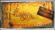 altered file folder recipe card holder with Viva Las Vegastamps!  http://stampo.com
