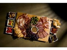 A charcuterie platter prepared by Chef Cathy Pavlos of Lucca Cafe in Irvine.
