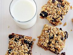 Chewy Oat Squares | These hearty squares are simple to make and wonderfully portable--they are perfect for packing in lunch boxes or for snacking in the car.