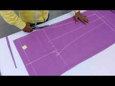 In this video I will show you how to make Pajama Pant with full Cutting and Stitching in Hindi language and simple method. # Some Videos How to make Dori Pip. Sewing Pants, Sewing Clothes, Design Your Own Dress, Salwar Pants, Pants Tutorial, Straight Cut Pants, Stitching Dresses, Easy Sewing Patterns, Sewing Tutorials