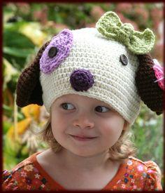 Amigurumi Animal Puppy crochet Silly hat