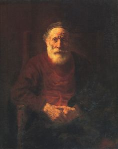 Portrait of an Old Man in Red by Rembrandt van Rijn. Museums: The State Hermitage Museum, St. Medium: Oil on canvas; Rembrandt Portrait, Rembrandt Art, Rembrandt Paintings, Oil Portrait, Pencil Portrait, Chiaroscuro, Caravaggio, Art Occidental, Francisco Goya
