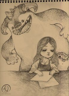 Imaginary Friends / sketch by Ma. Friends Sketch, Imaginary Friends, Pencil Drawings, Art Projects, Doodles, Paintings, Photo And Video, Inspiration, Ghosts
