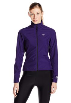 Pearl Izumi - Ride Women's Select Thermal Barrier Jacket, Blackberry/Blackberry, Large. One zippered pocket. Select Thermal Fleece fabric provides superior moisture transfer and warmth. Select Barrier fabric sets the benchmark in wind protection and water resistance. Full length internal draft flap with zipper garage seals in warmth. Reflective elements for low-light visibility.