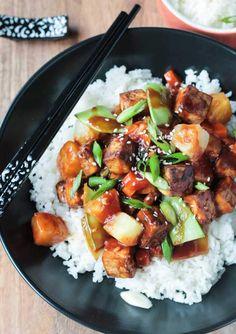 Vegan Baked Tofu Stir Fry with Pineapple | The Green Loot #vegan #healthy #weightloss
