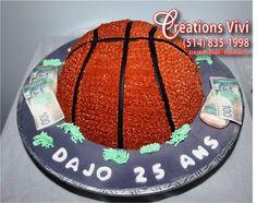 Gâteau ballon de baskette