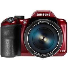 Samsung - WB1100 16.2-Megapixel Digital Camera - Red - Front Zoom $201