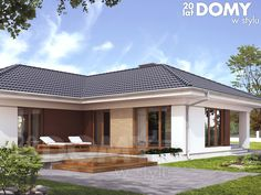 Facade House, House Roof, Architectural Design House Plans, Architecture Design, House Outside Design, Luxury Modern Homes, Small Modern Home, Bungalow House Design, Bedroom House Plans