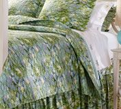 Water Lilies Organic Cotton Quilted Coverlet